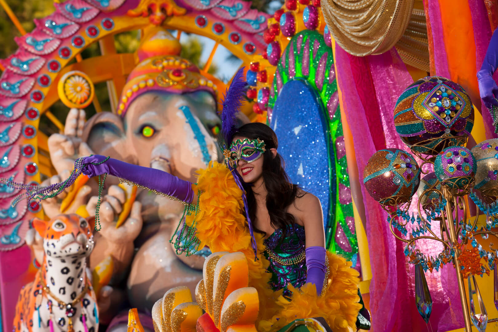 Universal Orlando shows off four new Mardi Gras floats, joined by