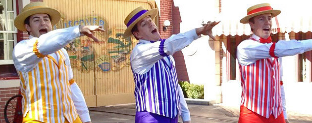 VIDEO: Dapper Dans sing boy band hits at Disneyland with a younger take on Limited Time Magic than Walt Disney World