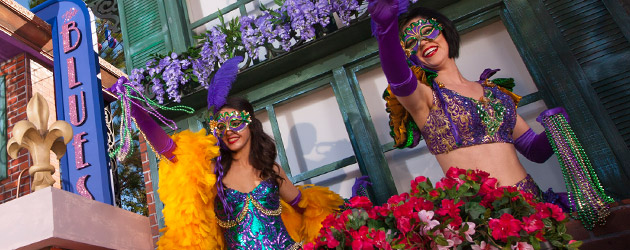 Universal Orlando shows off four new Mardi Gras floats, joined by Cajun cuisine and live music when the event kicks off Feb. 9