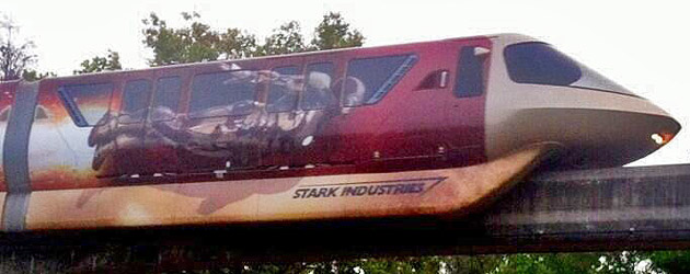 """Iron Man 3″ monorail debuts at Walt Disney World, bringing Stark Industries technology to Orlando"