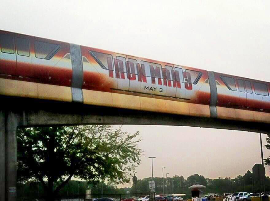 Iron Man 3 Monorail Debuts At Walt Disney World