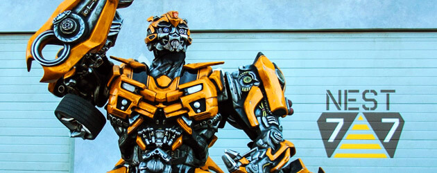 Talking Optimus Prime and Bumblebee meet guests at Universal Orlando as Transformers: The Ride 3D store opens