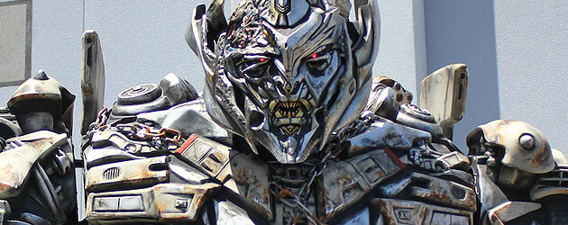 Talking Megatron character descends on Universal Studios Florida as Transformers: The Ride 3D nears completion