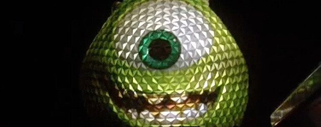 Mike Wazowski turns Spaceship Earth green and the 'Monsterail' arrives on scene in time for Walt Disney World press event
