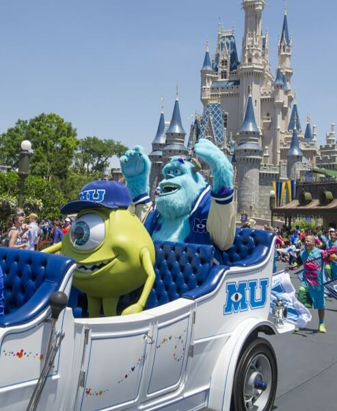 mike and sulley at walt disney world