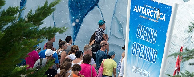 Antarctica: Empire of the Penguin grand opening draws huge crowds for icy new realm and ride at SeaWorld Orlando