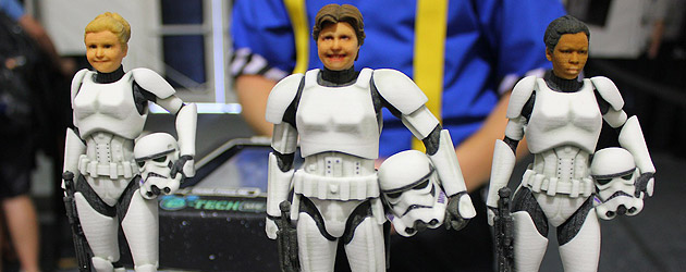 Inside the custom Stormtrooper figure experience during Star