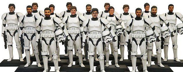 Create custom Stormtrooper figurines with fan faces at Star Wars Weekends in Walt Disney World alongside Carbon Freeze Me