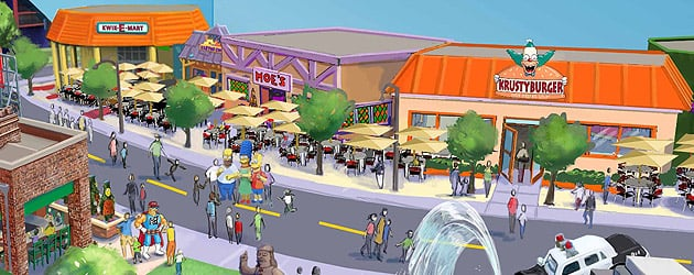 """The Simpsons"" theme park expansion announced for Universal Orlando with Moe's Tavern, Krusty Burger, Duff Beer"