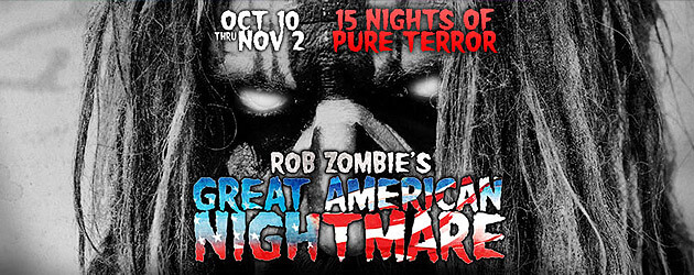 Rob Zombie's Great American Nightmare to bring three new haunted houses, Halloween time concerts to California FEARplex