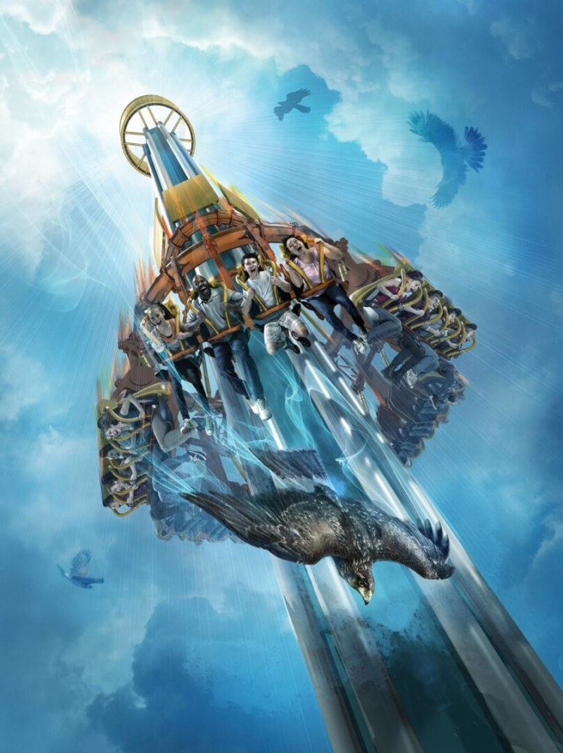 Falcon 39 S Fury Drop Tower Announced For Busch Gardens Tampa To Open Spring 2014 Taking Guests