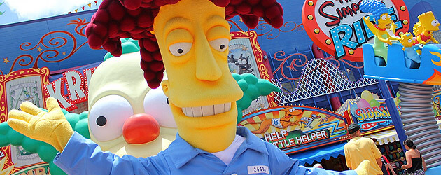 Sideshow Bob escapes prison, joins Krusty the Clown in meeting Universal Orlando guests in new 'Simpsons' Springfield area