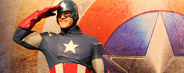 Captain America character debuts at 2013 D23 Expo, ready to board Disney Cruise Line in Avengers Academy kids area