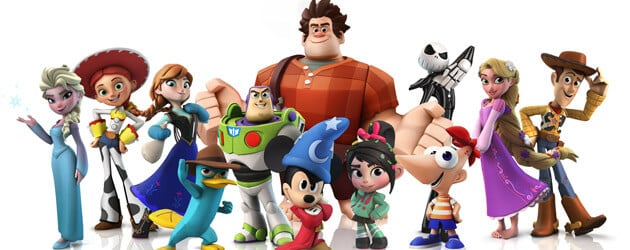 New Disney Infinity characters, playset, virtual Disneyland at 2013 D23 Expo with Toy Story, Rapunzel, Jack Skellington