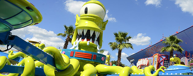Springfield officially opens at Universal Orlando as Kang and Kodos Twirl n Hurl completes 'The Simpsons' expansion