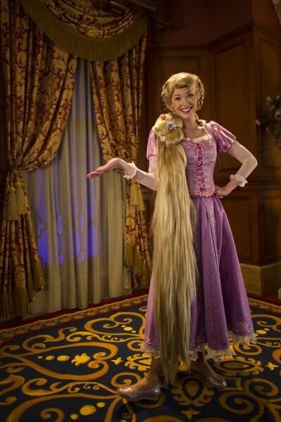rapunzel at fairy tale hall