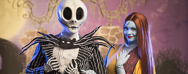 Jack Skellington and Sally scare up new fun in Mickey's Not-So-Scary Halloween Party meet-and-greet at Walt Disney World