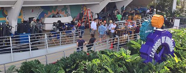 """Tomorrowland"" films in Tomorrowland as Walt Disney World welcomes movie studio crew to shoot in Carousel of Progress"