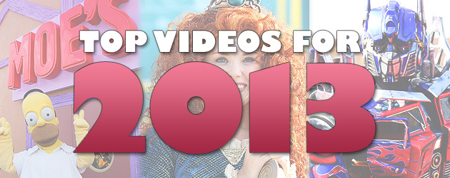 Top 10 Most Popular Videos for 2013 from Disney, Theme Parks, and Special Events