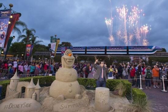 Josh Gad at Disneyland