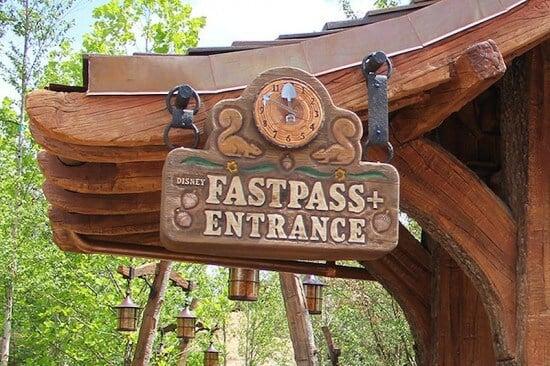 FastPass+ entrance at Seven Dwarfs Mine Train
