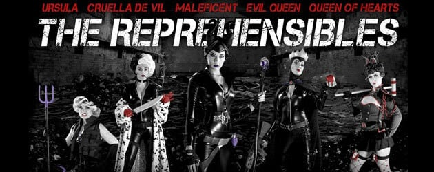 "CONTEST: Disney Villains unite in ""The Reprehensibles"" movie poster parody for deluxe ""Maleficent"" costume giveaway"
