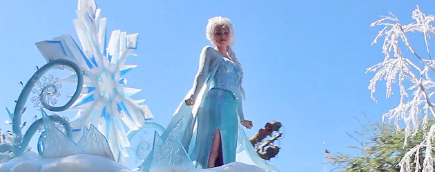 """Frozen"" pre-parade debuts at Disneyland letting guests see Anna, Elsa, and Olaf without long lines"