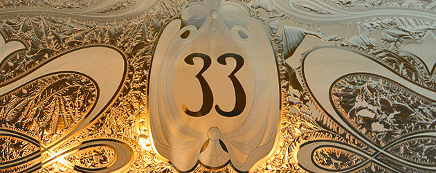 Inside the new Club 33, updated with elegance enhancing the Disneyland private restaurant with new menu and lounge