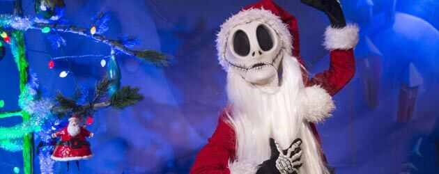 Jack Skellington returns as Sandy Claws for Walt Disney World meet and greets at Mickey's Very Merry Christmas Party