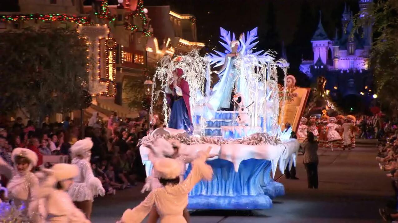 Video Disneyland Christmas Overview Frozen Fun Parade World Of