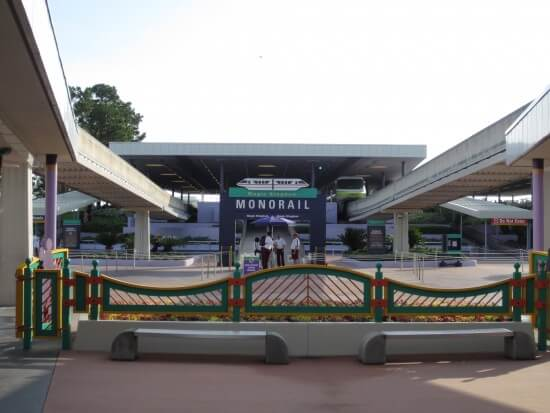 The Monorail Station at the Transportation and Ticket Center