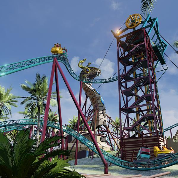 Cobra 39 s curse spinning roller coaster announced for busch Busch gardens tampa water park