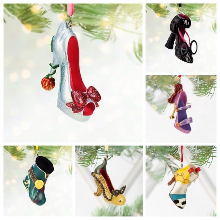Christmas in July! New Disney shoe ornaments from Disney Store ...