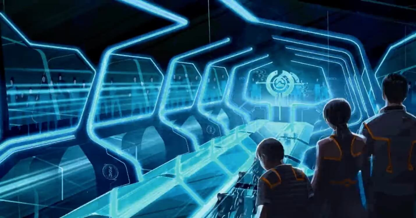 Tron Ride Concept Art Released For Shanghai Disneyland In New Teaser on Life Cycles Movie