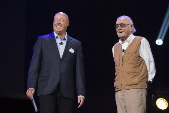 Bob Chapek Announces New Attractions and Entertainment Coming to Disney Parks -- Walt Disney Parks and Resorts Chairman Bob Chapek, joined by Marvel legend, Stan Lee, shared a sneak peek at the D23 EXPO 2015 giving fans a behind-the-scenes look at whatÕs to come, including new and enhanced Star Wars experiences coming this fall to the Florida and California theme parks, plans for a new Toy Story Land at DisneyÕs Hollywood Studios, and more details on the Iron Man Experience coming to Hong Kong Disneyland. (Richard Harbaugh/Disney Parks)