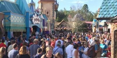 Big Crowds at the Magic Kingdom