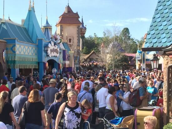 Big Crowds at the Magic Kingdom