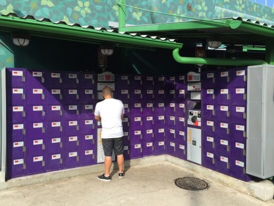Incredible Hulk Attraction Lockers