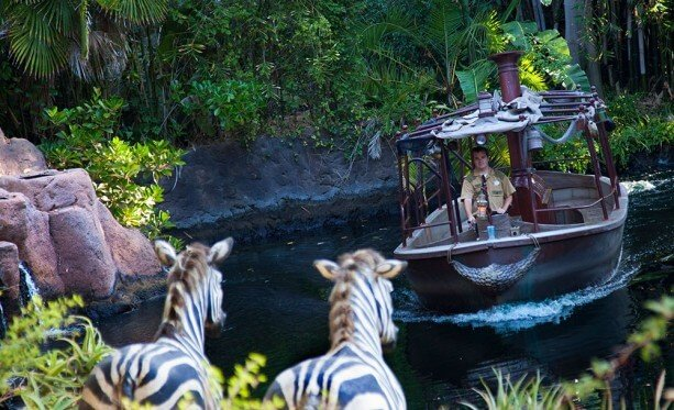 Though Disneyland's Jungle Cruise is missing the tunnel, its short line makes it a lot easier to enjoy.