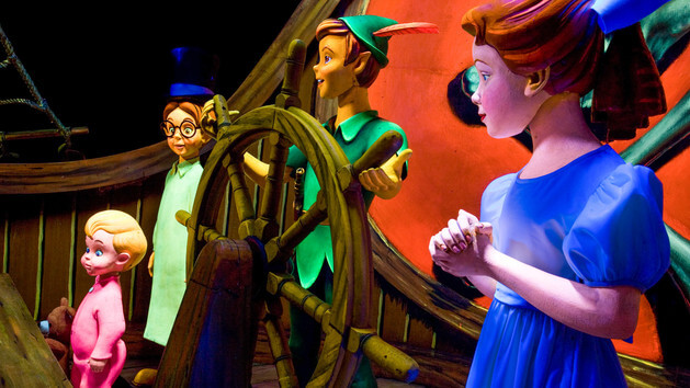 Disneyland's Peter Pan gives riders a feel for the exact location of the second star to the right.