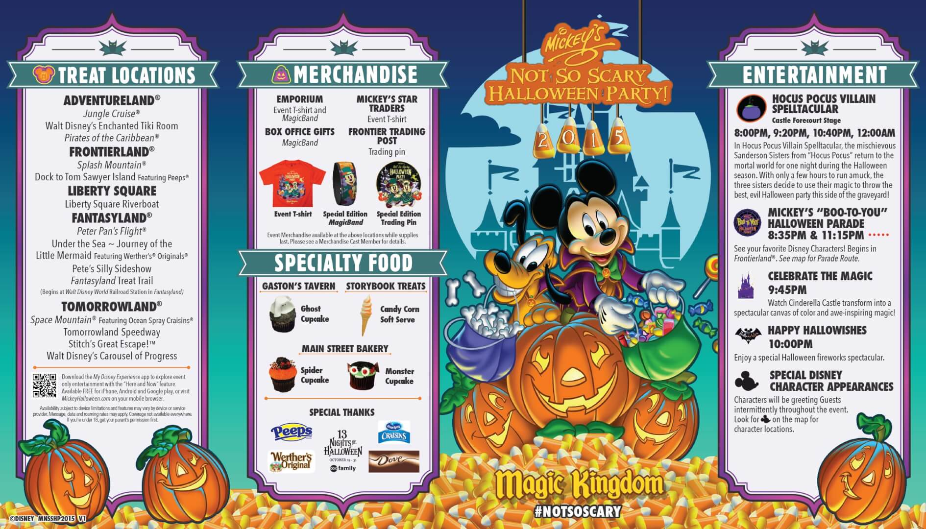 PHOTOS: Mickey's Not So Scary Halloween Party 2015 guide map ...