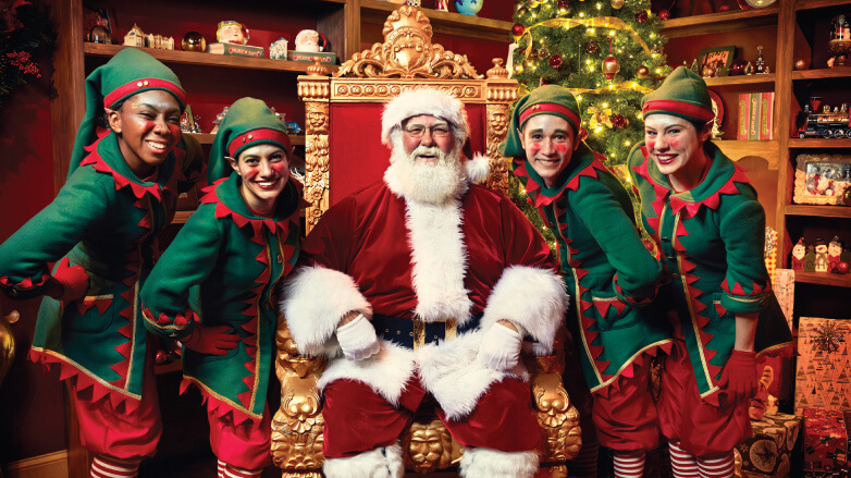 Santa Makes His Grand Return To Busch Gardens Tampa With Holiday Event Christmas Town Inside