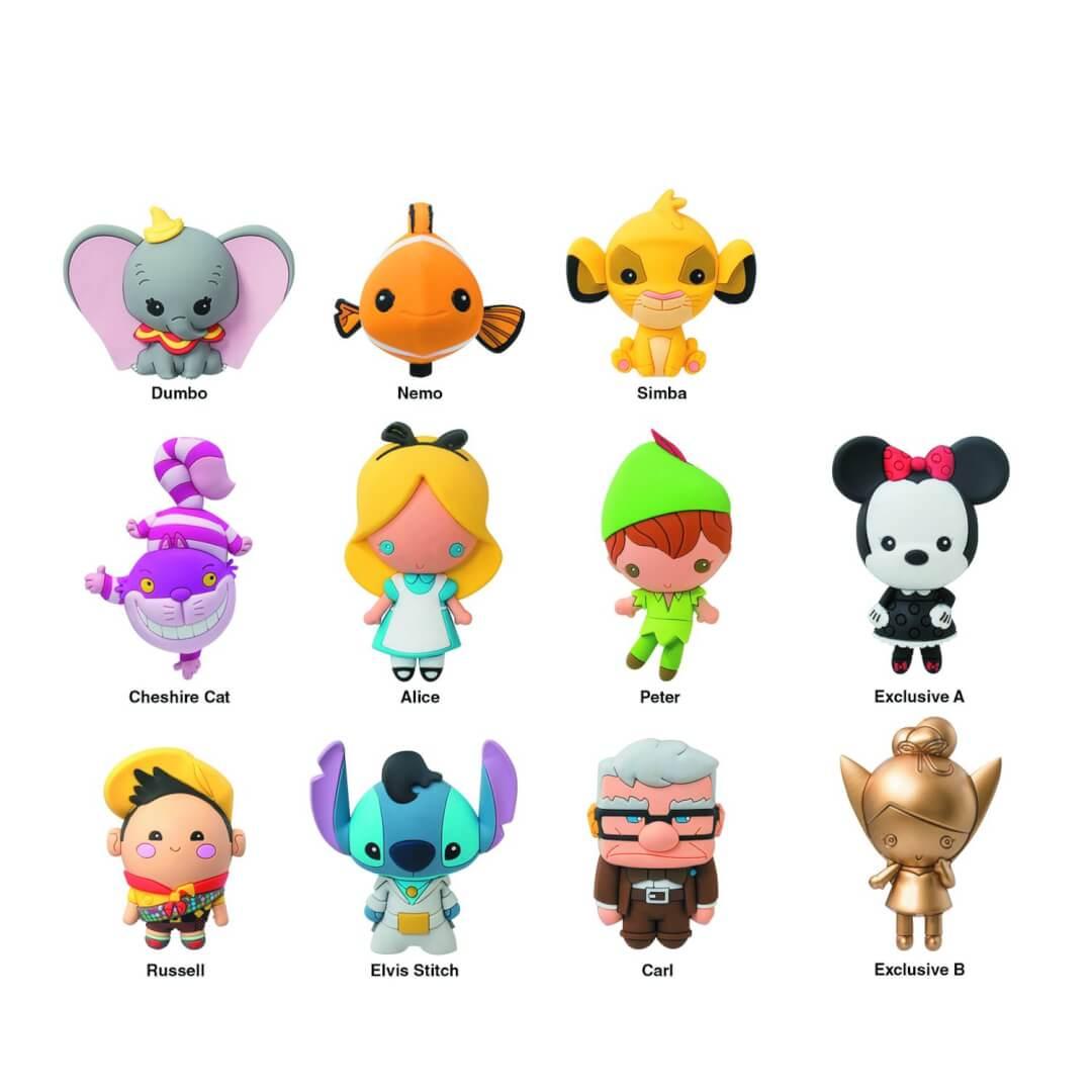 Pre Order Now New Disney 3d Figure Key Chains Inside