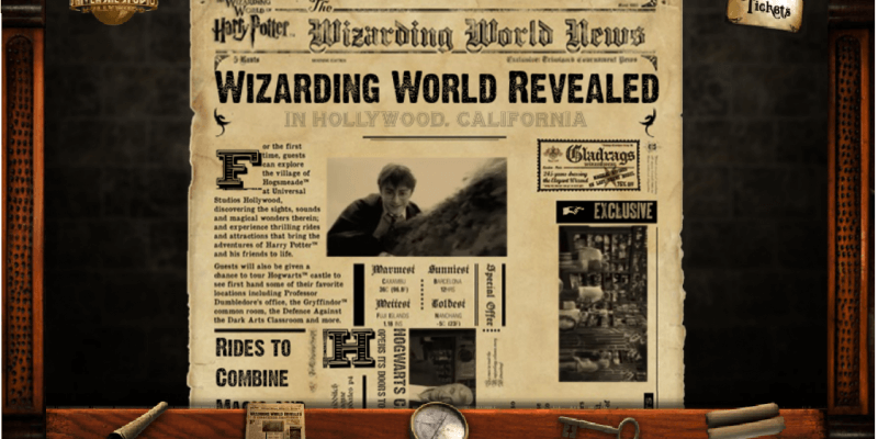 Harry Potter Theme Park Introduces Online Virtual Tour