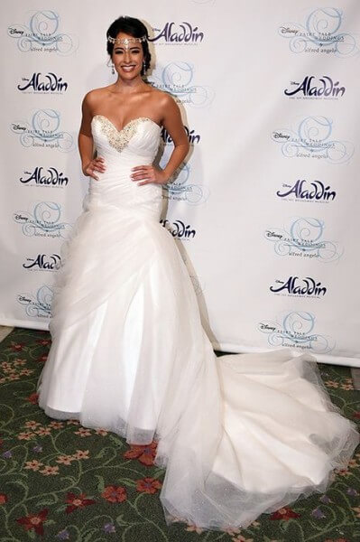 NEW YORK, NY - OCTOBER 07:  Approvals_2016 Alfred Angelo Disney Fairy Tale Weddings Bridal Collection Fashion Show Debut on October 7, 2015 in New York City.  (Photo by Bryan Bedder/Getty Images for Alfred Angelo)