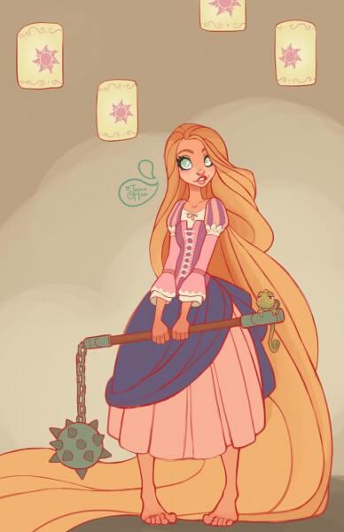 Rapunzel warrior princess