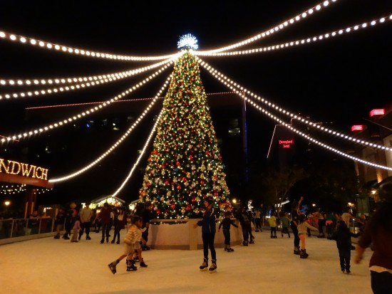 The Downtown Disney District ice skating rink, located between Earl of Sandwich and ESPN Zone.