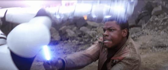 Finn lightsaber Force Awakens