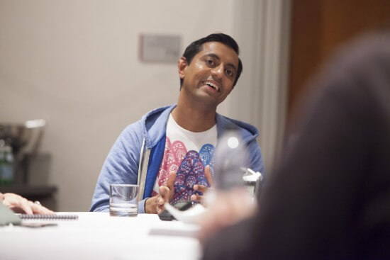 SANJAY'S SUPER TEAM Director Sanjay Patel attends the The Good Dinosaur Press Day in Los Angeles on November 15, 2015. Photo by Patrick Wymore. ©2015 Disney•Pixar. All Rights Reserved.