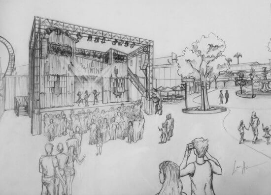 Knott's Ghost Town Calico Stage_Rendering